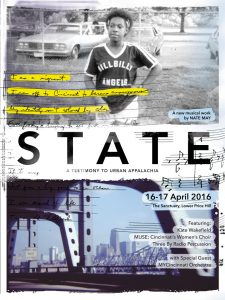 Poster for State, designed by Austin Dunbar.